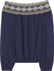 Tory Burch , Sylvia Cotton Off The Shoulder Blouse