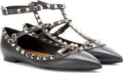 Valentino , Garavani Rockstud Leather Ballerinas