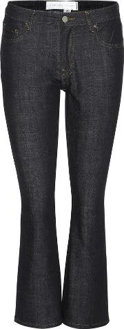 Victoria Victoria Beckham , Fluted Crop Cropped Flared Jeans