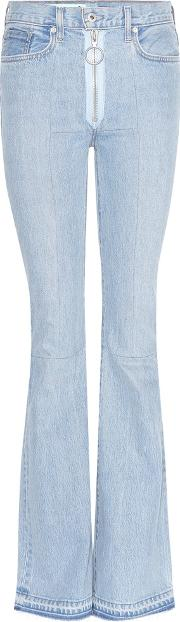 Offwhite , High Rise Flared Jeans