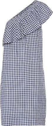 Velvet , Virgie Asymmetrical Checked Dress