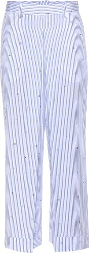 Wood Wood , Marion Striped Wide Leg Trousers