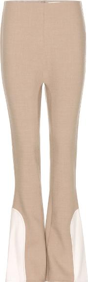 Marc Jacobs , Flared Wool Blend Trousers