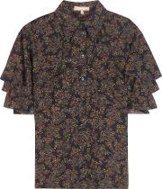 Michael Kors Collection , Printed Silk Shirt