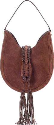 Altuzarra , Ghianda Knot Hobo Suede Shoulder Bag