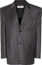 Balenciaga , Plaid Wool Jacket