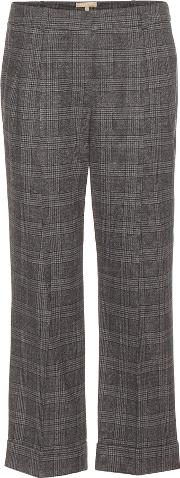 Michael Kors Collection , Cropped Stretch Wool Trousers