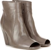 Rick Owens , Leather Ankle Boots