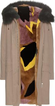 Army By Yves Salomon , Fur Lined Cotton Parka