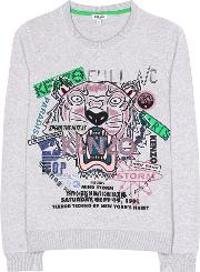 Kenzo , Embroidered Cotton Sweater