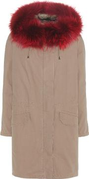 Army By Yves Salomon , Cotton Parka With Fur