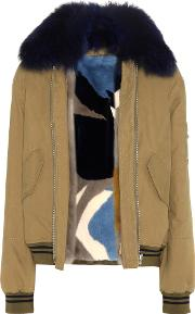 Army By Yves Salomon , Fur Lined Cotton Jacket