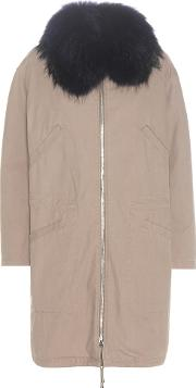 Army By Yves Salomon , Fur Trimmed Parka Coat