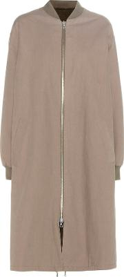 Army By Yves Salomon , Reversible Fur Lined Cotton Bomber Jacket