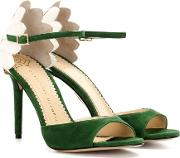 Charlotte Olympia , Marge 100 Embellished Suede Sandals