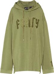 Fenty By Rihanna , Embroidered Cotton Blend Hoodie