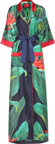 For Restless Sleepers , Printed Silk Robe