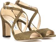 Jimmy Choo , Carrie 85 Suede Sandals