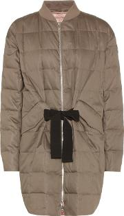 Moncler Gamme Rouge , Down Filled Cotton And Silk Coat