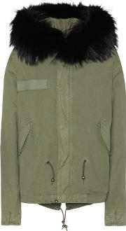 Mr & Mrs Italy , Cotton Parka With Fur Finish