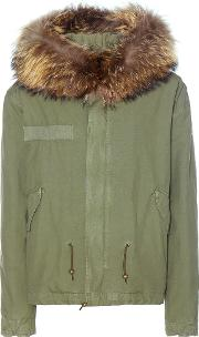 Mr & Mrs Italy , Fur Trimmed Cotton Parka