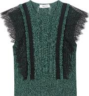 Valentino , Cotton Sweater With Lace