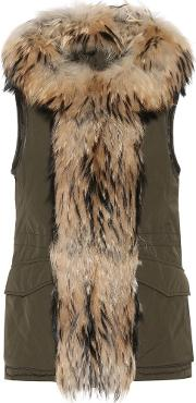 Woolrich , Military Fur Trimmed Gilet
