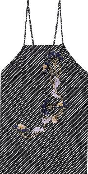 Carven , Embroidered Silk Top