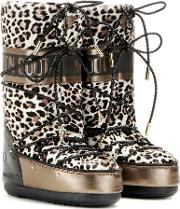 Jimmy Choo X Moon Boot , Mb Classic Lea Leather And Calf Hair Boots