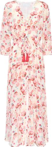 Athena Procopiou , Floral Printed Silk Dress