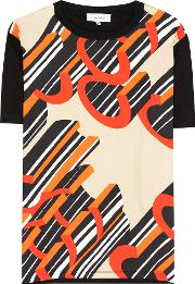 Carven , Silk And Cotton T Shirt