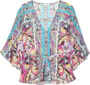 Etro , Printed Silk Cover Up
