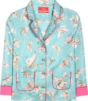 For Restless Sleepers , Printed Silk Blouse