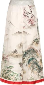 For Restless Sleepers , Printed Silk Culottes