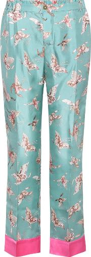 For Restless Sleepers , Printed Silk Trousers