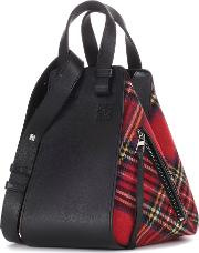 Loewe , Hammock Leather And Tartan Tote