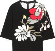 Marni , Sequinned Cotton Top