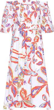 Peter Pilotto , Printed Off The Shoulder Dress