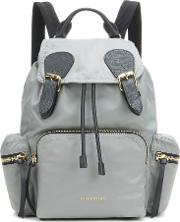 Burberry , The Medium Leather Trimmed Backpack