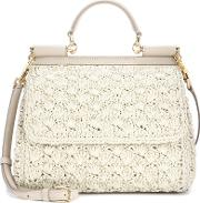 Dolce & Gabbana , Sicily Small Raffia Shoulder Bag