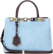Fendi , 2jours Petite Denim And Leather Tote