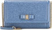 Salvatore Ferragamo , Embellished Leather Clutch