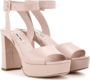Miu Miu , Patent Leather Platform Sandals