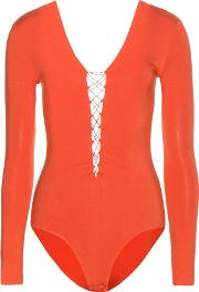T By Alexander Wang , Lace Up Bodysuit
