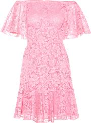 Valentino , Lace Off The Shoulder Dress
