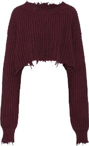 Unravel , Wool And Cashmere Cropped Sweater
