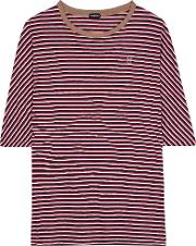 Undercover , Striped Cotton T Shirt