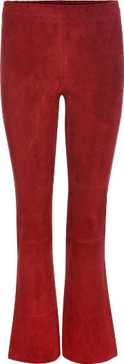 Stouls , Maxime Suede Cropped Trousers