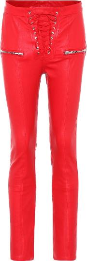 Unravel , Skinny Leather Trousers