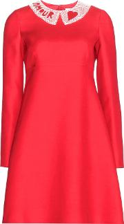 Valentino , Wool And Silk Blend Crepe Dress